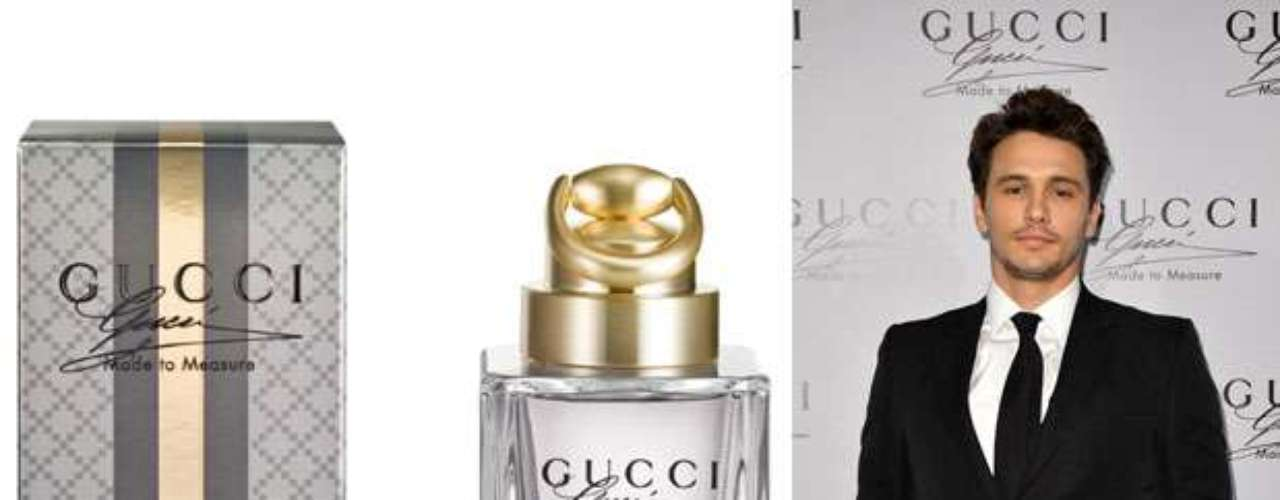 James Franco. Es el nuevo rostro para la promoción de la fragancia de la casa italiana de moda Gucci, denomindadaMade to Measure, un aroma clásico que promete ser un éxito en el mercado y que saldrá a la venta en septiembre de 2013.