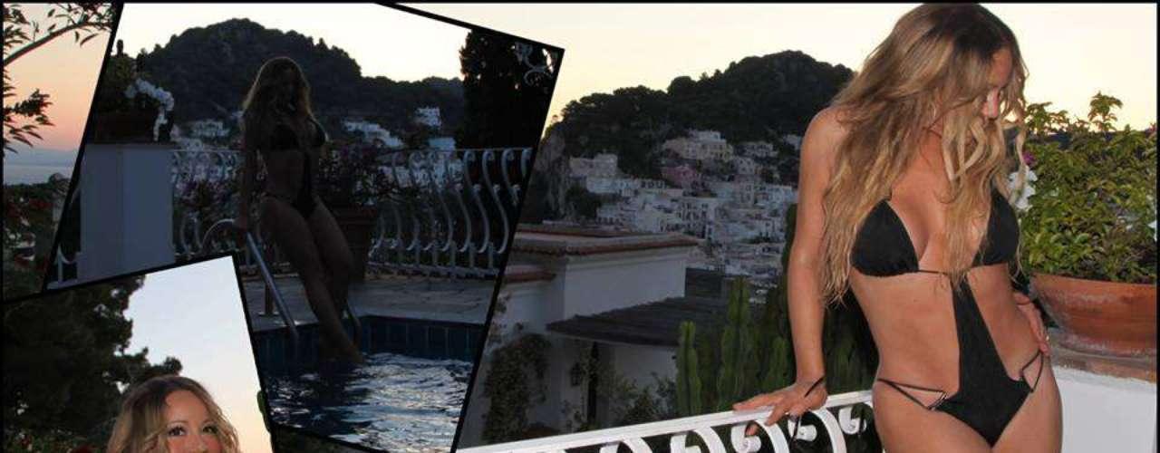 Mariah Carey no deja de ser sexy y sensual. La cantante nos regaló esta foto mientras se encontraba grabando su nuevo videoclip.