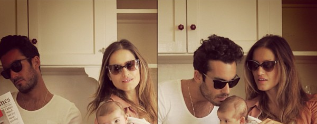 2 de Julio - Lola Ponce y Aarón Díaz posan junto a su adorada hijita Erin como una sofisticada familia muy al estilo 'Chateau Marmont'.