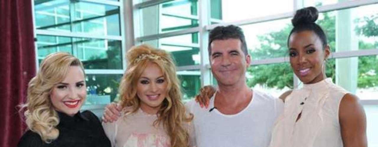 Aunque se ha dicho que Paulina Rubio y Demi Lovato no se la llevan bien como compañeras de jurado en el show \