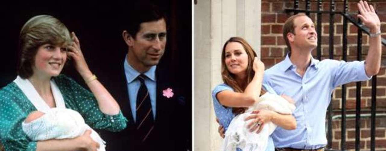 Tanto Lady Di, en 1982, como Kate Middleton, 31 años después, estuvieron sólo un día ingresada en el Hospital de St Mary.