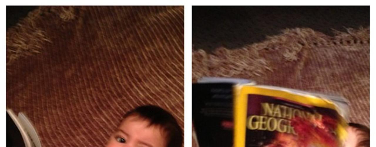 30 de Julio - Como Milan puede llegar a aburrirse mientras su famosa mamá trabaja, el pequeño se entretiene 'leyendo' una revista. ¡Qué inteligente el hijo de Shakira!