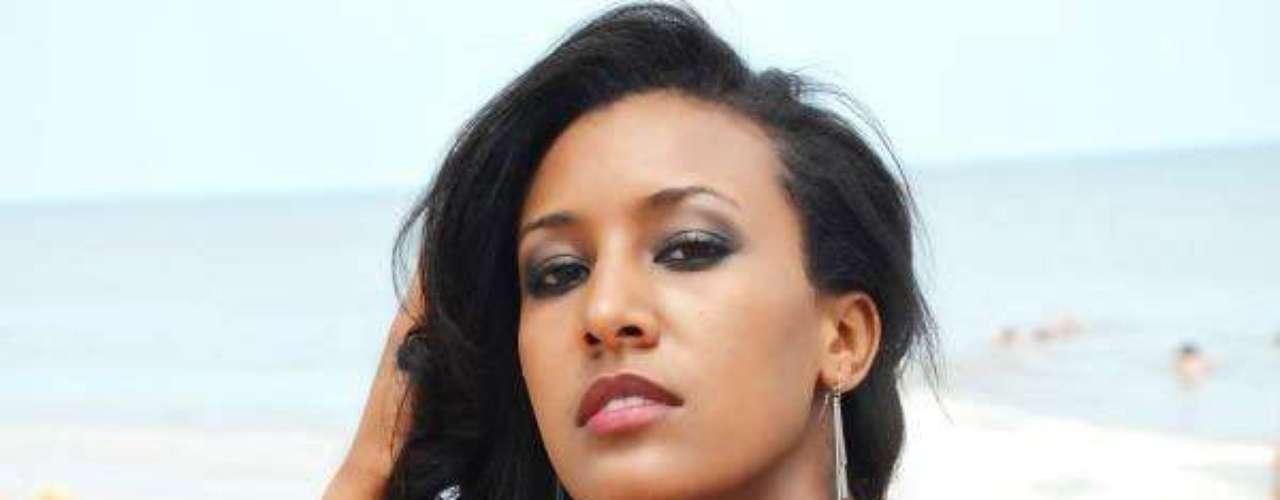Miss Etiopía - Genet Tsegay Tesfay. Tiene 22 años de edad y mide 1.73 metros de estatura. Reside en Addis Abeba.