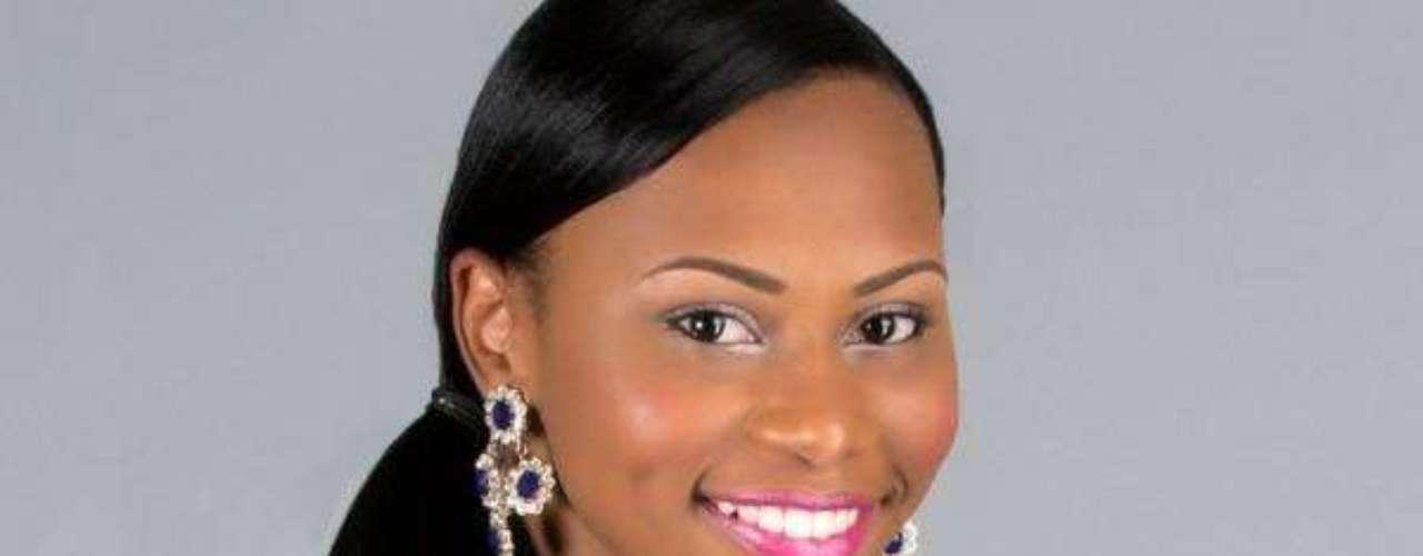 Miss Islas Vírgenes Británicas - Kertis Kassandra Malone. Tiene 21 años de edad, mide 1.65 metros de estatura y reside en Tortola
