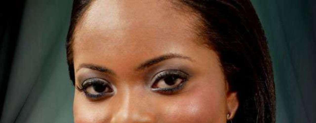 Miss San Cristóbal y Nieves - Trevicia Delicia Adams. Tiene 22 años de edad, mide 1.68 metros de estatura y reside en Basseterre