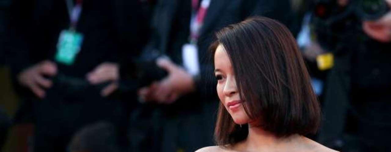 La actriz He Wenchao.