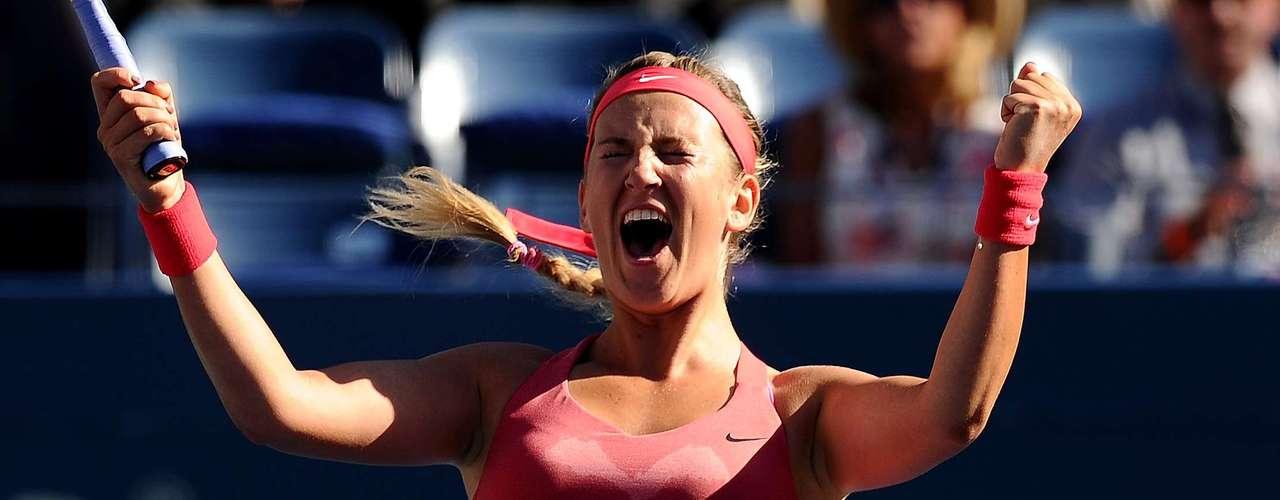 Satisfacción...La de Victoria Azarenka quien avanzó a la final.