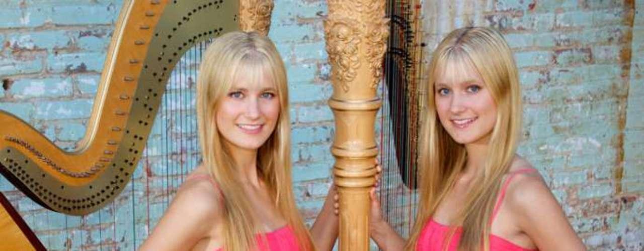 Camille y Kennerly Kittson estadounidenses yhan hecho famosas tocando el arpa. Las conocen, obviamente, como las \