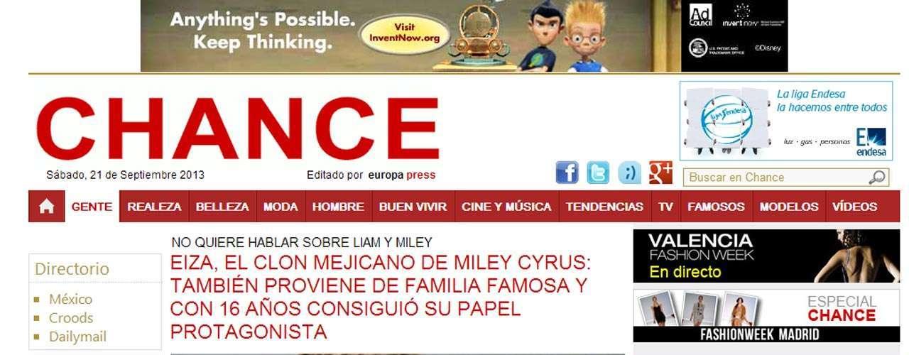 En otros medios incluso la llaman el clon mexicano de Cyrus.