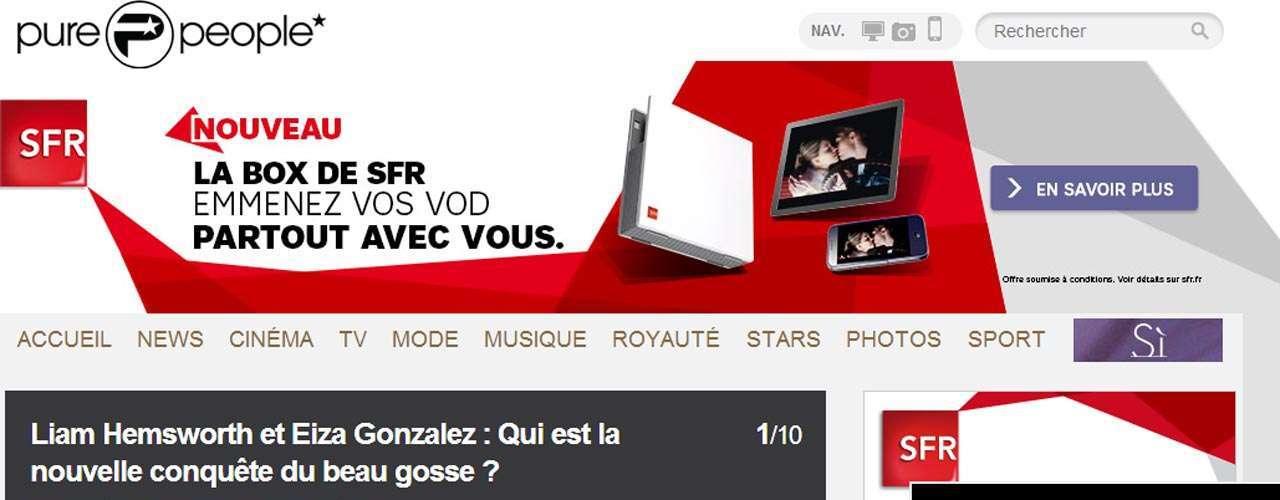 Los sitios franceses del corazón no puedieronquedarse sin dar la noticia.