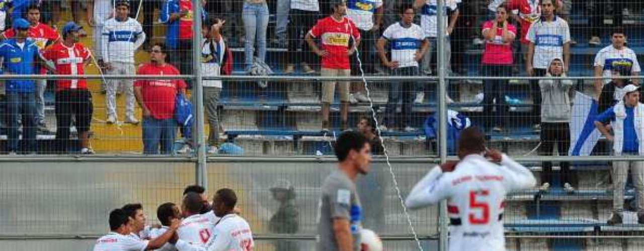 UC BUSCA REVANCHA EN LA SUDAMERICANA: Para gran parte del plantel de la franja este cruce es la chance para el desquite por lo sucedido en la semifinal de la Sudamericana 2012, donde quedaron eliminados por goles convertidos como visitante tras los empates 1-1 (ida en Santiago) y 0-0 (vuelta).