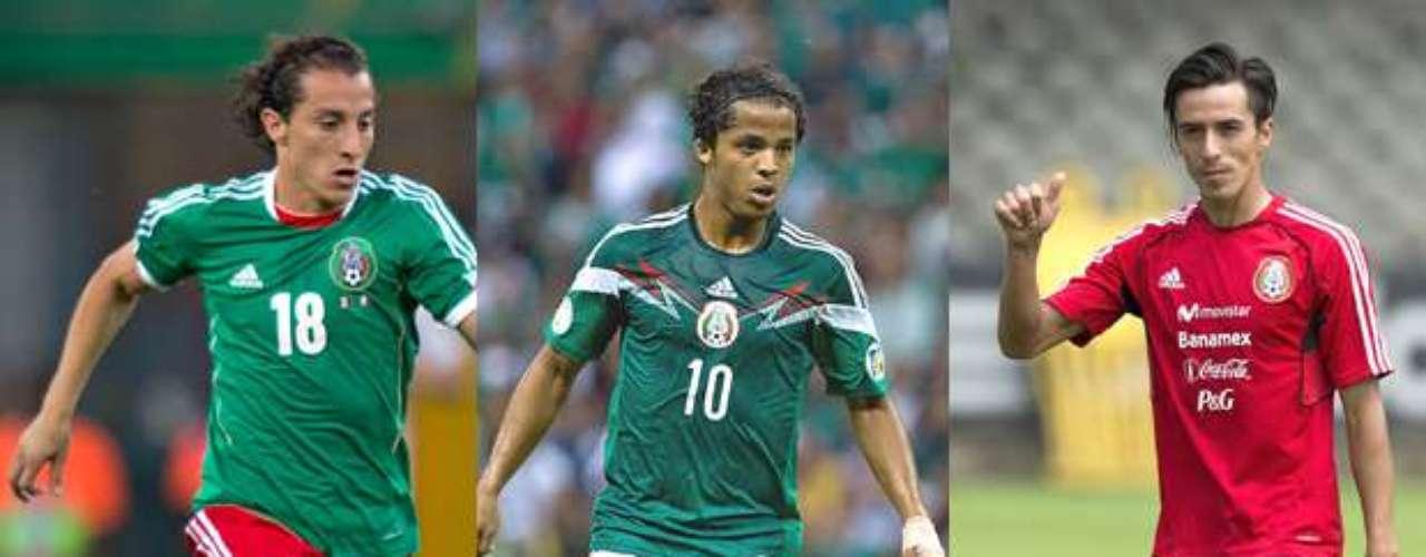 Miguel Herrera podría decidirse por Giovani dos Santos, Andrés Guardado o Lucas Lobos para competar el medio campo