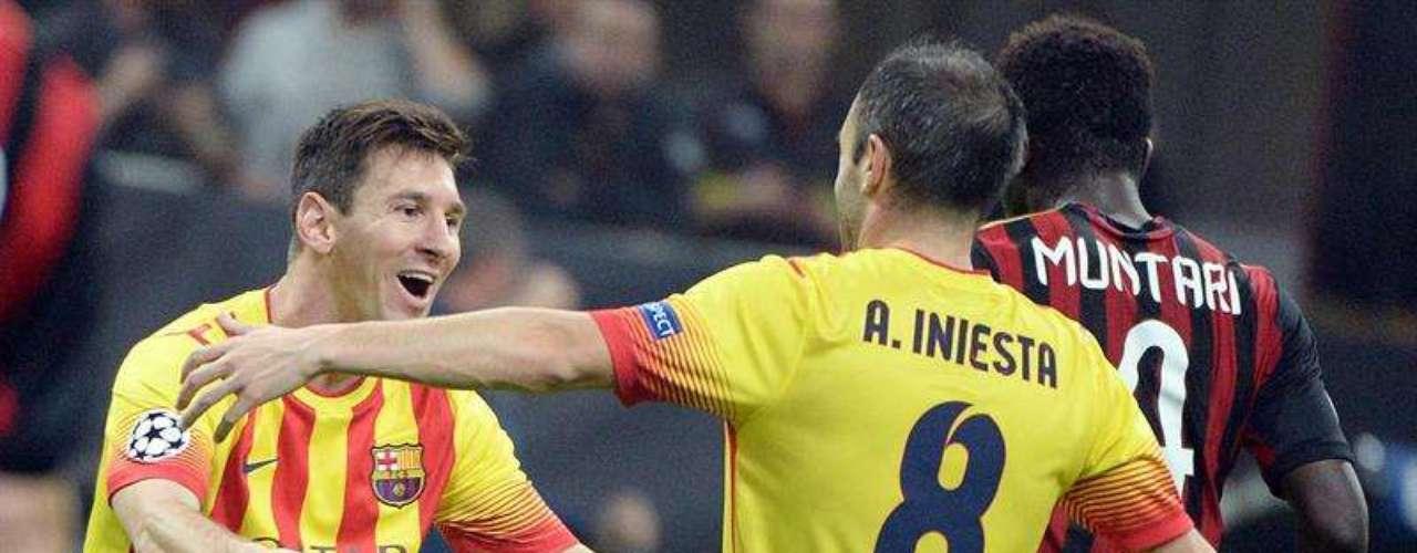 Messi e Iniesta, artífices del primer gol culé