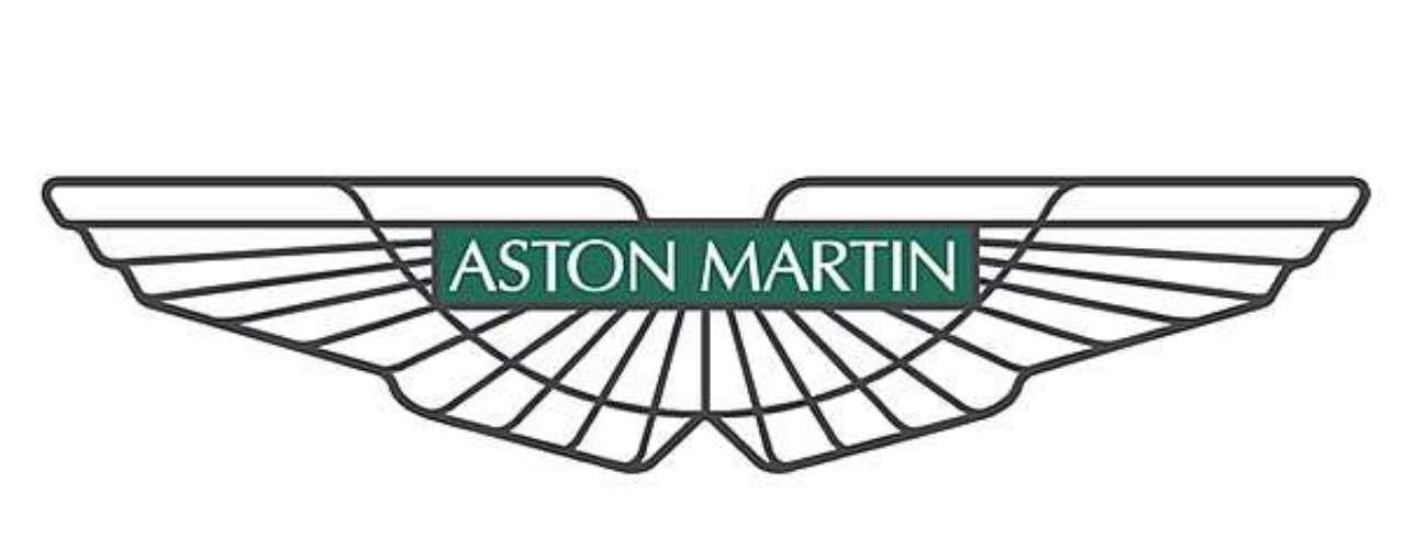 Aston Martin. Fundada en 1913 en Londres. El primer emblema de la marca fue un diseño simple, era un círculo dorado donde se cruzaban las letras en color verde; A y Sr