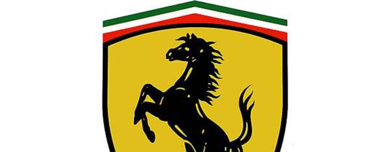 Ferrari. El Cavallino Rampante, era el emblema del as de la aviación italiana Francesco Baracca, de la I Guerra Mundial. Sus padres, como homenaje le pidieron a Enzo que lo utilizara en su marca. El fondo amarillo es el colorde la ciudad de Módena.