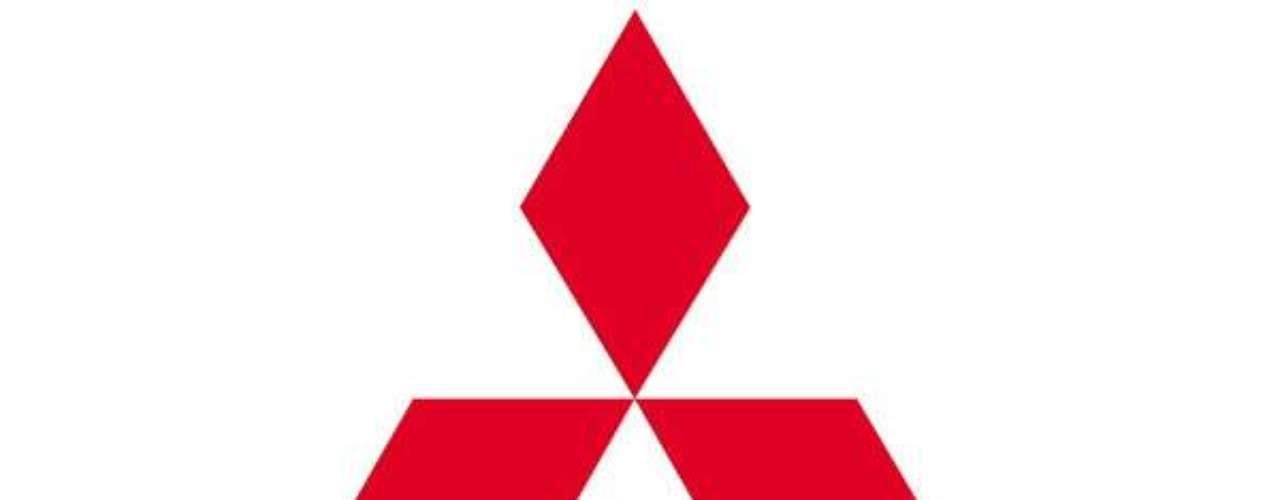 Mitsubishi. Yataro Iwasaki, fundador de Mitsubishi, basó el logo registrado en 1914 en el blasón del lord feudal Tosa Yamauchi que consistía en 3 hojas de roble.
