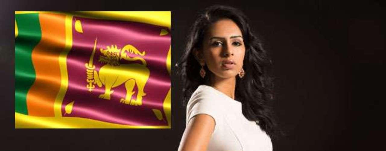 Miss Sri Lanka - Amanda Rathnayake tiene 23 años de edad, mide1.75 metros de estatura(5 ft 9 in) y procede de Colombo.