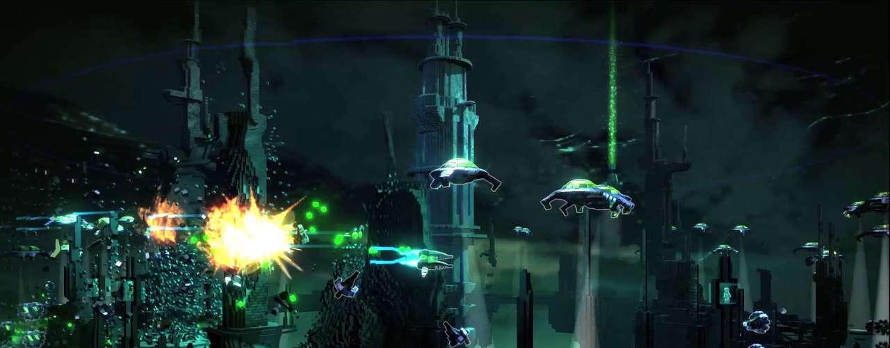 Resogun Este título de disparos a la vieja guardia combinará un estilo popularizado por juegos clásicos como Contra y Metal Slug con el poder gráfico del PlayStation 4