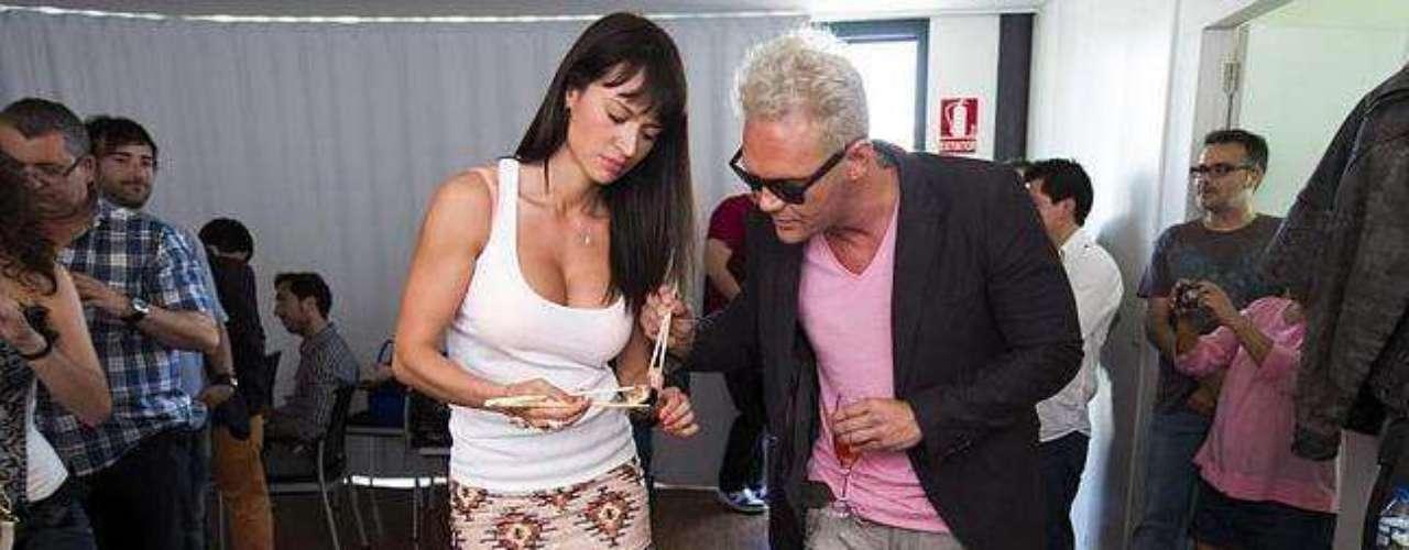 La colombiana es pareja del actor porno español Nacho Vidal desde hace un buen tiempo. Este dúo xxx se ha tomado Barcelona, donde residen, para sus experimentos más eróticos.