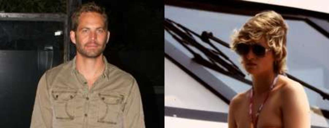 Paul Walker y Lady Di, ambos fallecidos jóvenes y a causa de un accidente de tráfico.