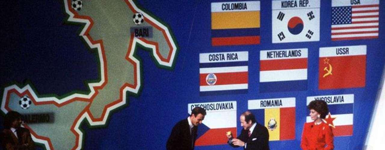 Sorteo en Roma en diciembre del 89 para Italia 90