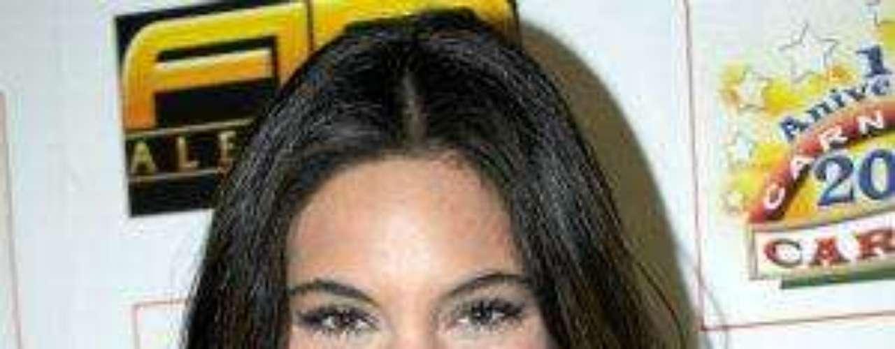 La hermosa actriz de la telenovela \