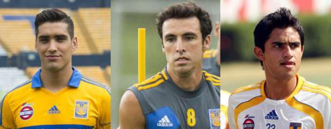Los jugadores de Tigres Manuel Viniegra, Jonathan Bornstein y Alonso Zamora, jugarán ahora para el Atlante