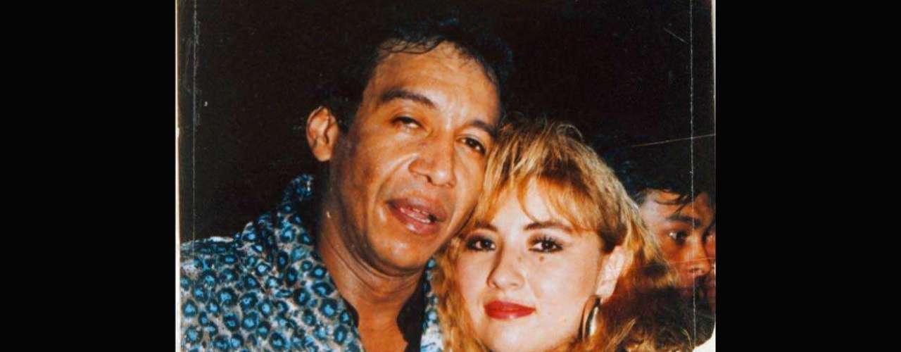 Diomedes y Doris Adriana Niño, la mujer por cuya muerte fue acusado. El cantante pasó tres años en la cárcel tras ser encontrado culpable.