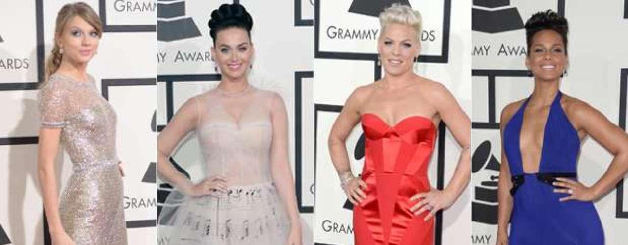 Un espectacular show fue el paso de las estrellas por la alfombra roja de Grammy Awards 2014, donde las celebridades se robaron todas las miradas con su exquisito glamour, su derroche de lujos y los millones en joyas que lucieron.