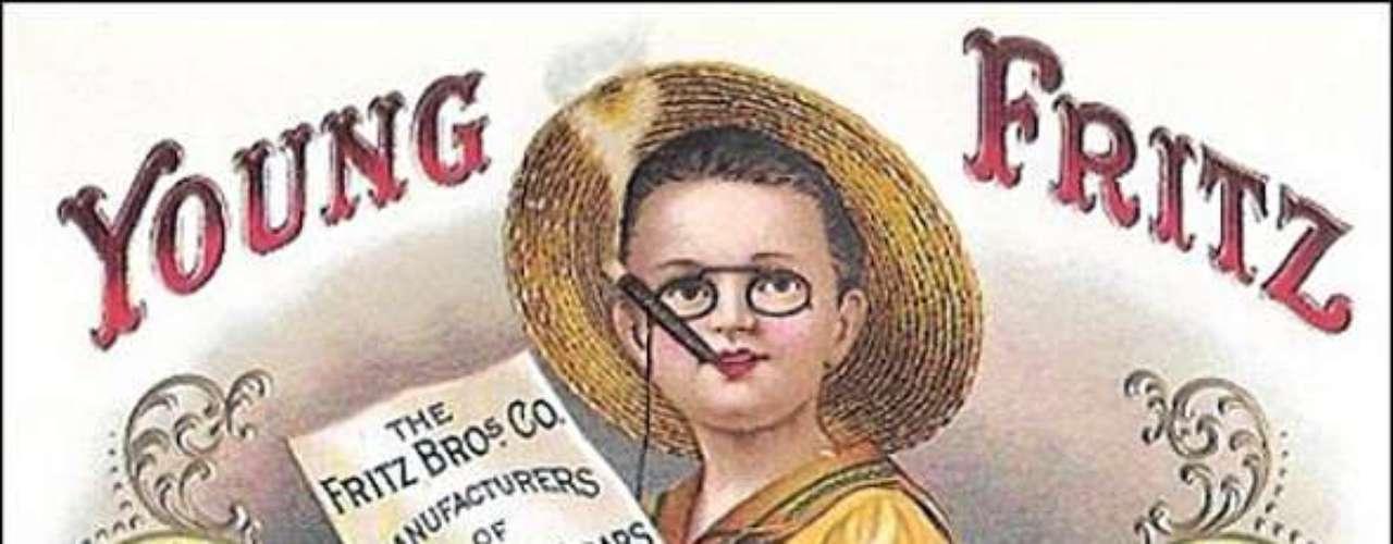 El dibujo de un niño para promocionar cigarros.