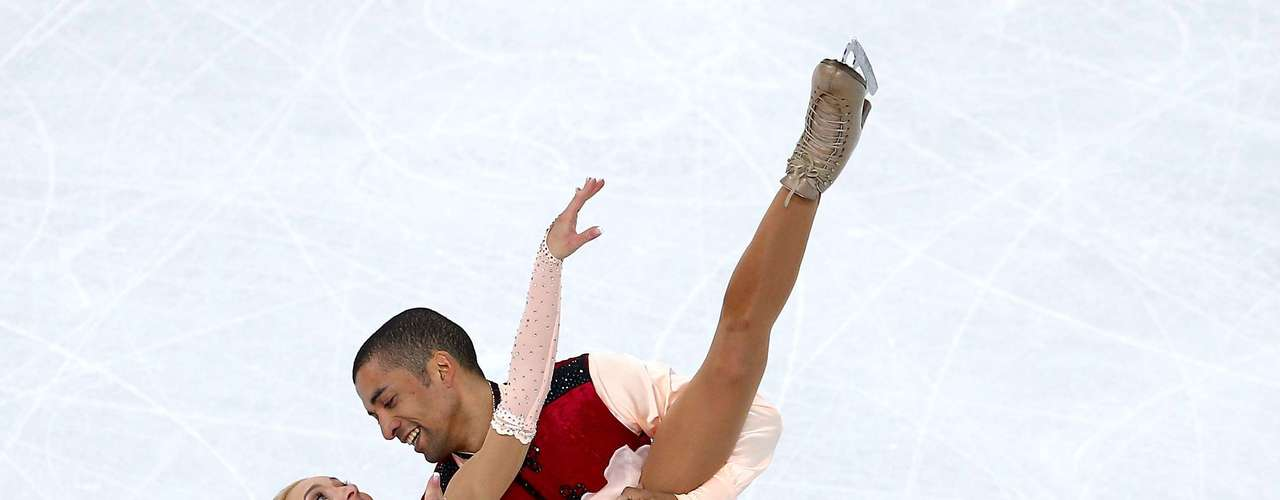 Aliona Savchenko and Robin Szolkowy of Germany compete in the Figure Skating Pairs Free Skating.