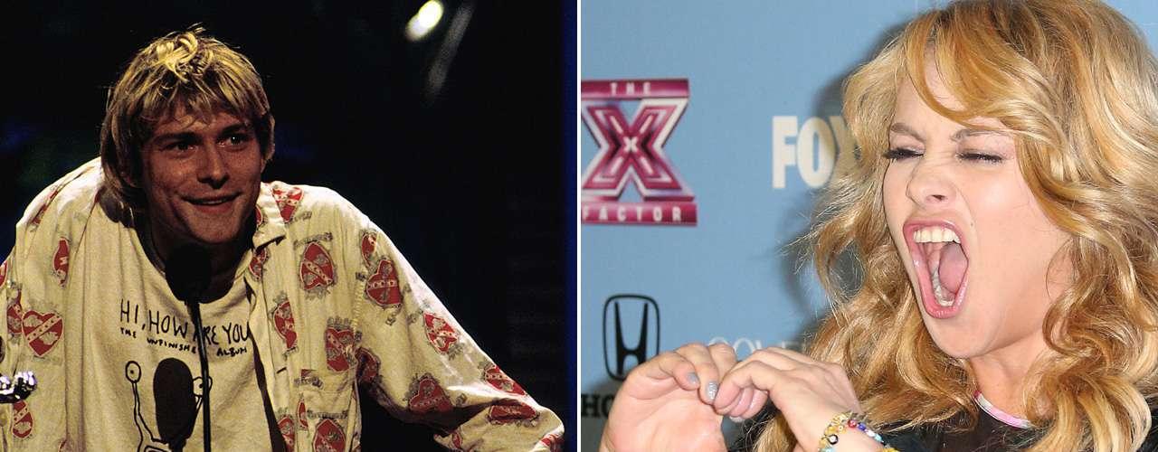 Paulina Rubio tiene fascinados a miles, pero también incomoda a otros millares. La 'Chica Dorada' será toda una gurú del estilo, pero su calidad vocal se queda corta comparándola con la potencia y registro de Kurt Cobain.