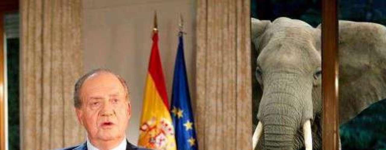 Bromas en Facebook al Rey Juan Carlos por YPF y el elefante