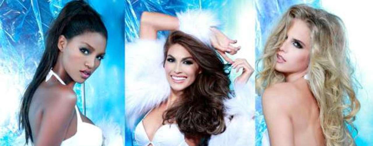No te pierdas toda la sensualidad de las candidatas a la corona Miss Universo 2013, espectaculares jovenes que no lo piensan dos veces para posar en fotos oficiales hechas por los más renombrados artistas en un helado paraje que les brinda un toque muy sexy.
