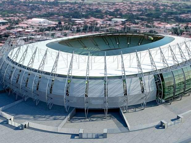 Vista aérea del estadio Arena Castelao Foto: Terra