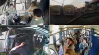 Chofer sorprende a pasajeros al ceder su asiento  Video:
