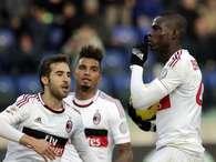 Balotelli silenció a los aficionados del Cagliari, quienes sentían tener los tres puntos en la bolsa ante Milan Foto: AP