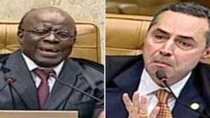 Barroso e Barbosa batem boca sobre quadrilha no mensalão Video: