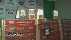 Operação Mercúrio: polícia apreende cigarros avaliados em R$ 150 mil Video:
