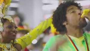 Dante ensina alemão a sambar e se dá mal em comercial; veja Video: