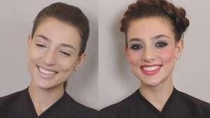 Maquiagem romântica tem esfumado superprático Video:
