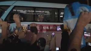 Veja a chegada da Argentina, de Messi, em Porto Alegre Video:
