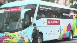 Copa 2014: Holanda chega a hotel em São Paulo para semifinal Video: