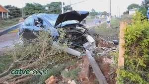 Copel fiscaliza motoristas que destróem postes em acidentes Video:
