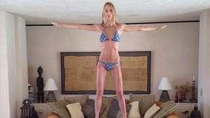 Mulher de Puyol esbanja equilíbrio em exercício com marido Video: