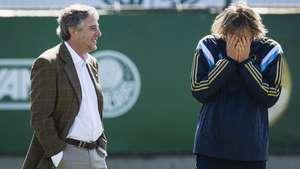 Palmeiras recebe apoio do presidente antes de jogo Video: