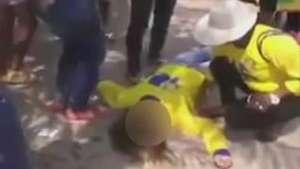 Cabo eleitoral leva um soco e cai no chão durante campanha Video: