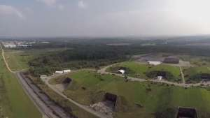 Drone grava set de filmagem de
