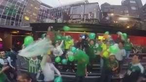 Palmeirenses em Dublin ainda comemoram centenário Video: