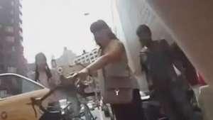 Ciclista filma o momento em que sofre acidente em NY Video: